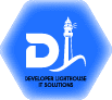 Developer lighthouse blue color logo